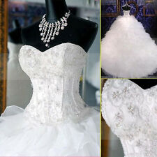 Hot New White/Ivory Sweetheart Ball Gown Bridal Wedding Dress Custom Made 2-28