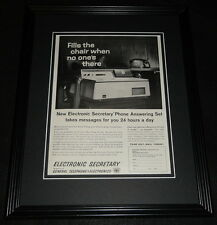 1961 Electronic Secretary 11x14 Framed ORIGINAL Advertisement