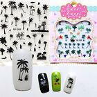 Summer Coconut Tree Water Decals Transfer Stickers Nail Art Accessory