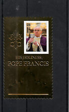 Canouan Grenadines St Vincent 2013 His Holiness Pope Francis 1v Gold Stamp Popes