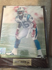 CAROLINA PANTHERS PLAQUE VINTAGE 12X9 OLD STORE STOCK ERIC DAVIS