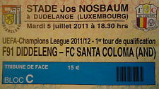 Ticket uefa cl 2011/12 f91 diddeleng-FC Santa Coloma