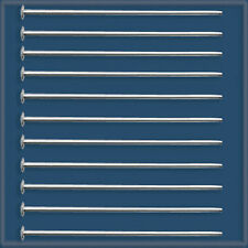 "300pcs 1"" Sterling Silver 925 HEADPINS 24 gauge"