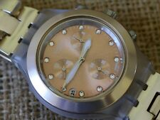 Beautiful Ladies Large Swatch Irony  Multi Jeweled Watch - Rare!