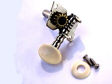SINGLE ACOUSTIC GUITAR  UKULELE OR BANJO TOP MACHINE HEAD TUNER + WHITE BUTTON