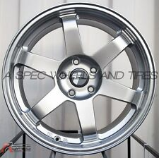 18X8 AVID.1 WHEELS AV-06 5X114 +35 HYPER BLACK RIM FITS MAZDA RX8 MAZDA SPEED3