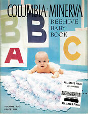 VINTAGE COLUMBIA MINERVA BEEHIVE BABY BOOK KNIT CROCHET PATTERN BOOK