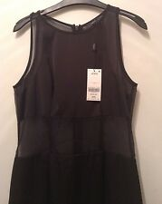 "BNWT "" Next "" Size 14 Mesh Insert Black Pencil Shift Party  Evening Dress £70.00"