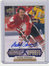 "2011 UD WORLD OF SPORTS GILBERT PERRAULT ""BUFFALO SABRES /TEAM CANADA"" AUTOGRAPH"