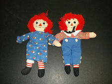 Small sized Raggedy Ann and Andy plush toys
