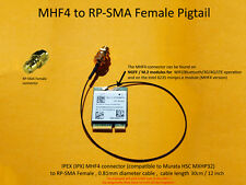 MHF4 / IPX to RP-SMA Female Pigtail 30cm for NGFF/M.2 WIFI/WLAN/3G/4G/LTE Module