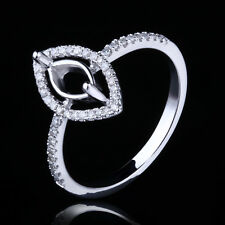 8X4MM MARQUISE SOLID 14K WHITE GOLD DIAMONDS SEMI MOUNT SETTING ENGAGEMENT RING