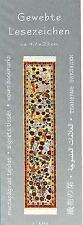 Paradiesvögel Orientteppich Gewebtes Lesezeichen Läufer Puppenhaus Miniatur 1:12