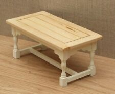 1:12 Dolls House Rectory style kitchen table – Choice of 15 colours