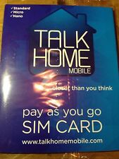 Talk Home Pay As You Go SIM Card Free Ship Gold Number 074 107 64 757