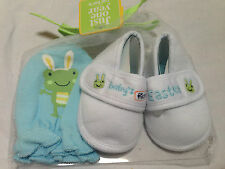 Carter's baby Boy 0-6 months Baby's First Easter Frog Shoes & Mittens New w Tag