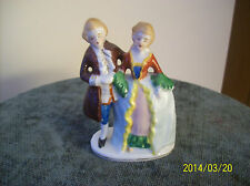 Porcelain Occupied Japan Courting Couple Hand Painted Figurine #213