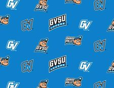 Grand Valley State University Lakers GVSU 035 Fleece Fabric Print by the Yard
