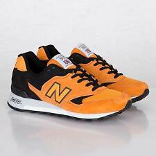 MADE IN ENGLAND! $190 NEW BALANCE M577 ORANGE BLACK UK FLIMBY CLASSIC SHOES 12 D