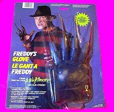 FREDDY'S GLOVE Freddy Krueger From Nightmare on Elm St Movie Marty Toy 1984 RARE