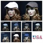 100% Cotton Newsboy Cabbie Gatsby Cap men Ivy Hat Golf Driving Summer Flat S~XL