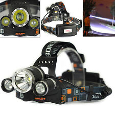 12000LM 3*XML T6 LED Recargable Linterna Frontal Head Lámpara Antorch Luz Cabeza