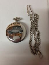 Mini City ref152 pewter effect car on a polished Silver Case Pocket Watch
