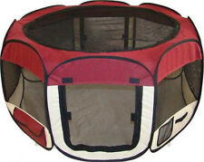 """NEW 43"""" Soft Pet  Dog Cat In/Outdoor Tent  Exercise Pen Play Yard Maroon - 013"""