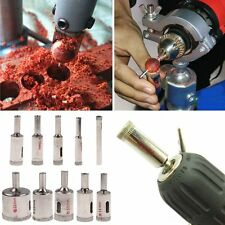 10Pcs Diamond Coated Core Hole Saw Drill Bit Set Tools For Tiles Marble Glass