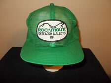 VTG-1970s Rockmount Research and Alloys Metal Welding Vancouver, BC hat sku18