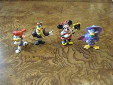 Lot of 4 Small Disney Minnie Mouse and Donald Ducks Figurines - 1992