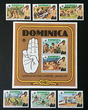 Dominica 1977 ** frase y bloque Boy Scouts/Scouts post frescos mnh