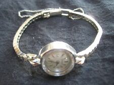 Womans Vintage Longines 14K White Gold 12 Diamond Watch with Gold  Bracelet.