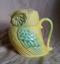 Vintage Art Deco Pottery Figural Owl Creamer Pitcher by Artist Dwight C Holmes