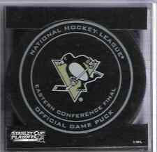 2013 NHL Pittsburgh Penguins Eastern Conference Game Hockey Puck/Plastic Case