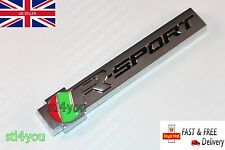Jaguar r sport metal boot trunk sticker decal badge emblem x e type xxr xjr xfr