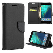 For Google Pixel  - Cloth Leather Credit Card ID Wallet Folio Pouch Case Cover