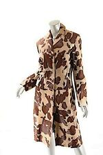 HUGO by Hugo Boss Brown/Tan 100% Pony Leather Animal Print 3/4 Coat - Sz 2