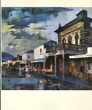 "1964 Vintage New Zealand Color Art Plate ""WET MORNING, WESTPORT"" McIntyre Litho"