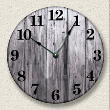OLD WEATHERED BOARDS Wall Clock - Rustic Cabin Country Wall Home Decor - 7004