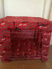 BLUE/ PINK / RED SCOTTIES PUPPY/DOG CRATE COVER/MADE TO ORDER/LARGE.