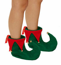 Unisex ELF BOOTS with Bells COSTUME PARTY ACCESSORY (one size fits most)