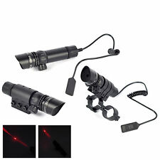 Tactical Adjustable Red Dot Laser Sight Scope w/ 20mm Mount for Hunting Airsoft
