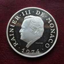 Monaco 1974 silver proof 100 francs