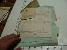 Vintage Travel Paper:8 Indian 1937 receipts, misc