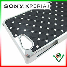Custodia BRILLANTINI LUCE per Sony Xperia J ST26i back cover rigida NERO urti