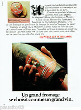 PUBLICITE ADVERTISING 115  1978  MUNSTER LES PETITS AMIS fromage comme vin