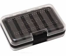 Leeda Profil 250 Slot Black Double Sided Clear Fishing Fly Box - (J0540)