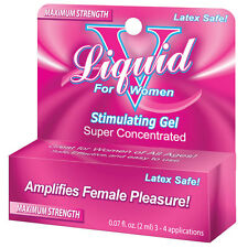 Liquid V For Women Boxed Max Strength Clit Arousal Gel Orgasm Enhance Sex