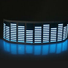 45 x 11cm Sound Music Audio Activated Sensor Car LED Light Equalizer Glow Blue